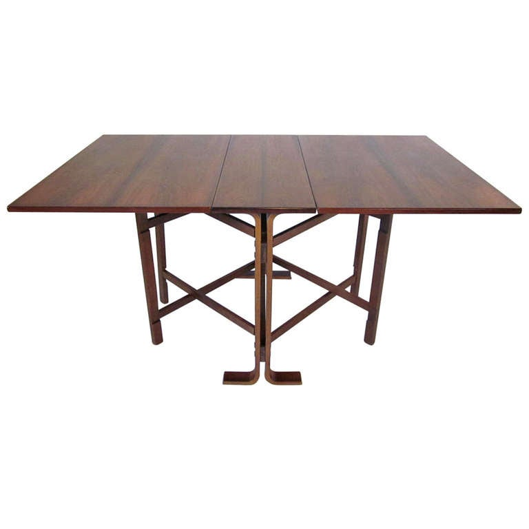 Rosewood gateleg dining table at 1stdibs - Gateleg table and chairs ...