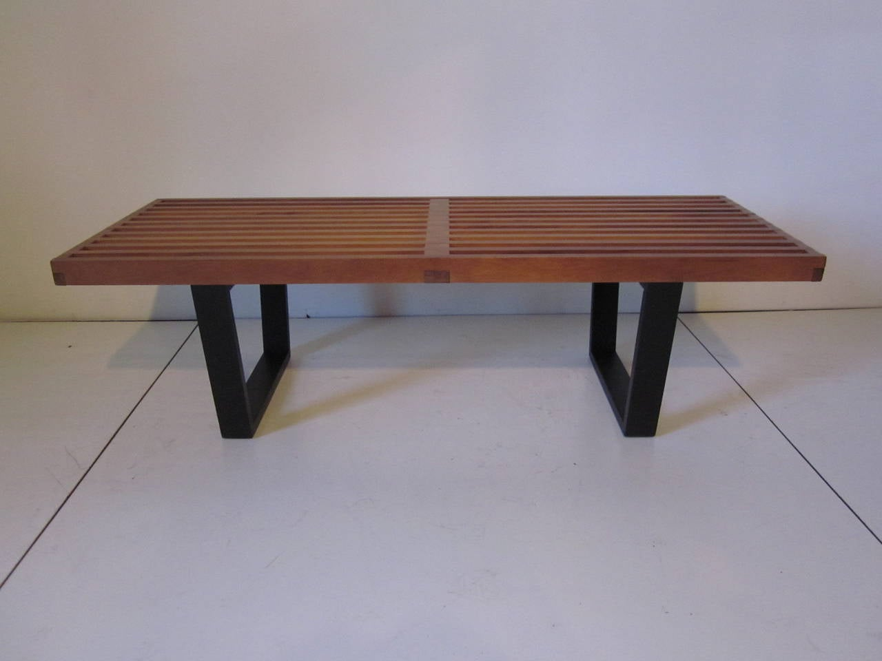 George Nelson Slat Bench Or Coffee Table At 1stdibs
