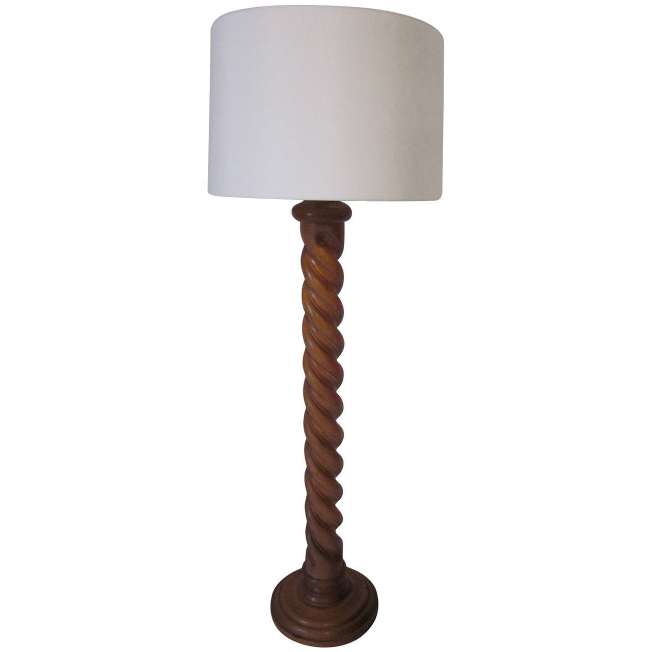 Italian Wood Carved Floor Lamp At 1stdibs