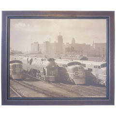 Streamline Chicago Train Railroad Photo