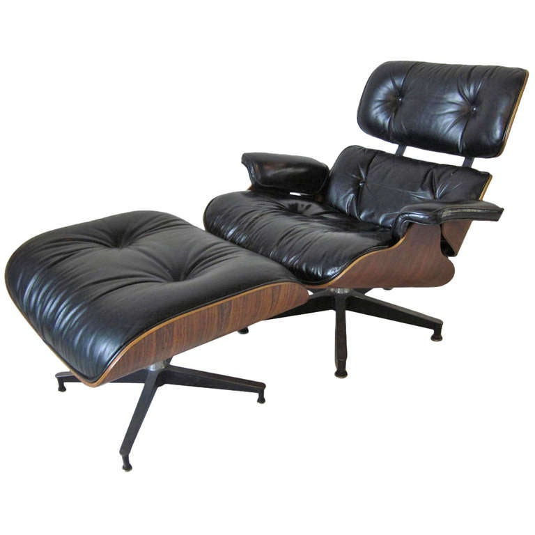 Eames Rosewood 670 Loung Chair W Ottoman At 1stdibs