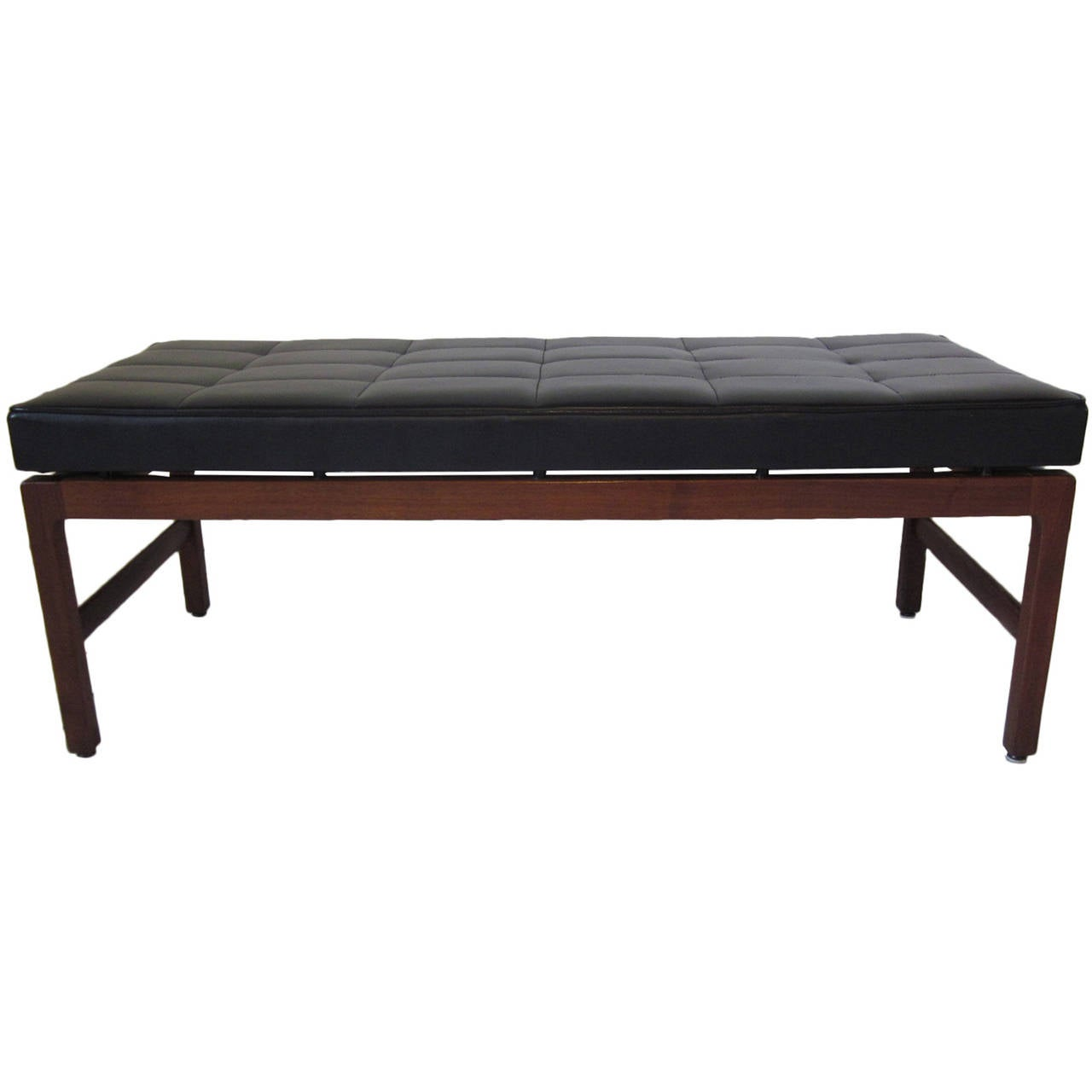 Walnut Knoll Styled Bench At 1stdibs