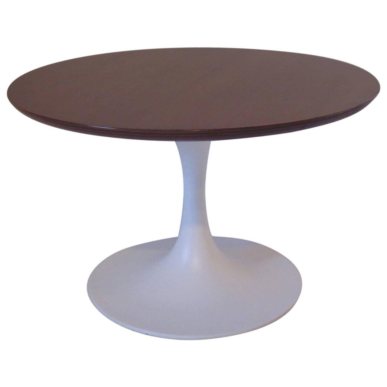 Saarinen Styled Walnut Tulip Side Table at 1stdibs