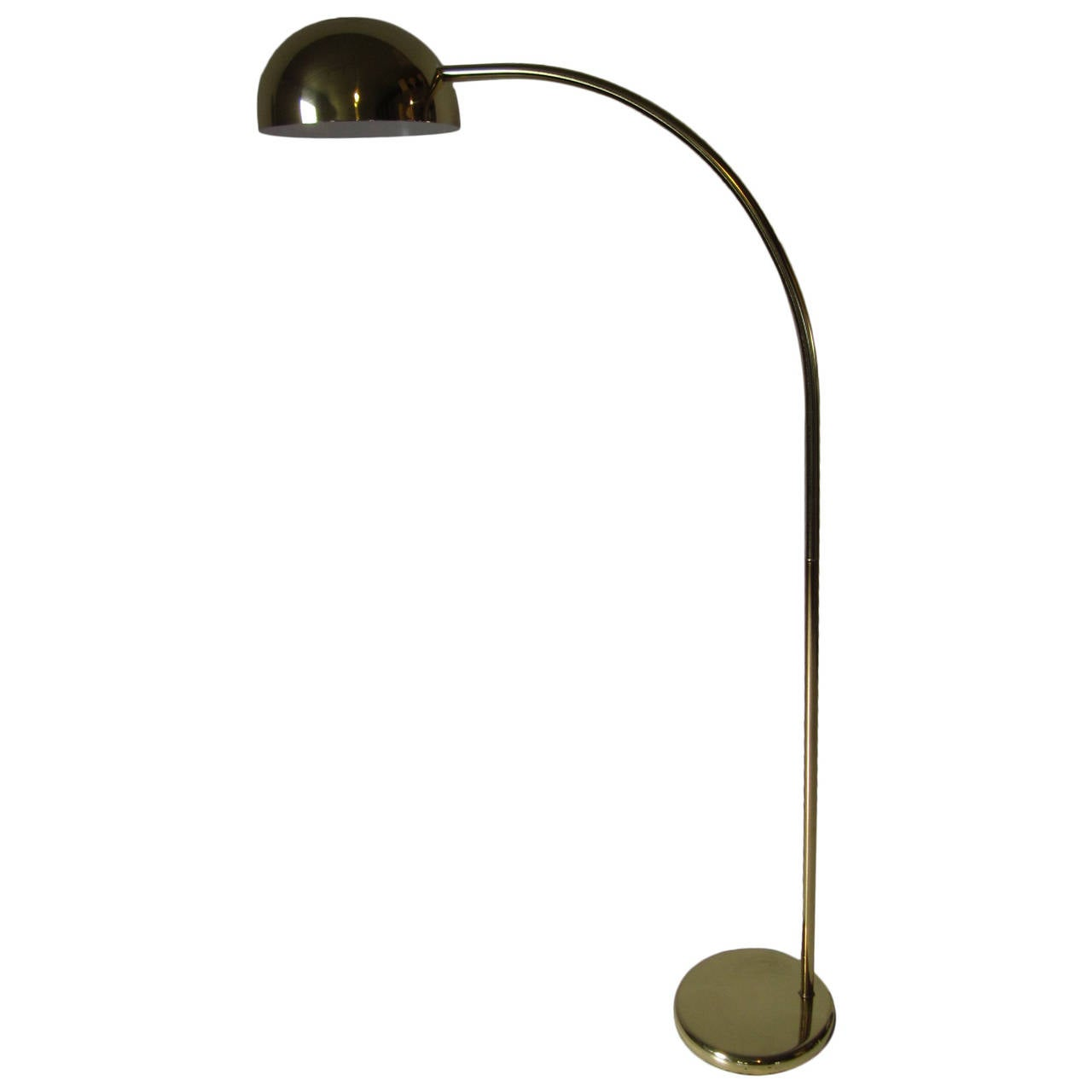 1970s Brass Arc Floor Lamp At 1stdibs