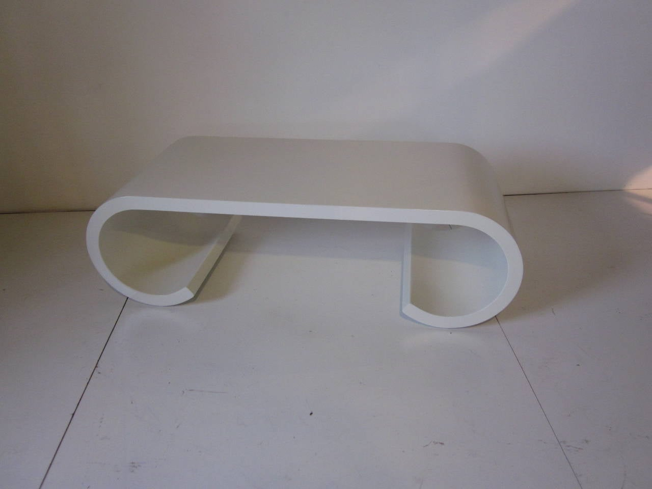 Karl Springer Styled Scroll Coffee Table For Sale At 1stdibs
