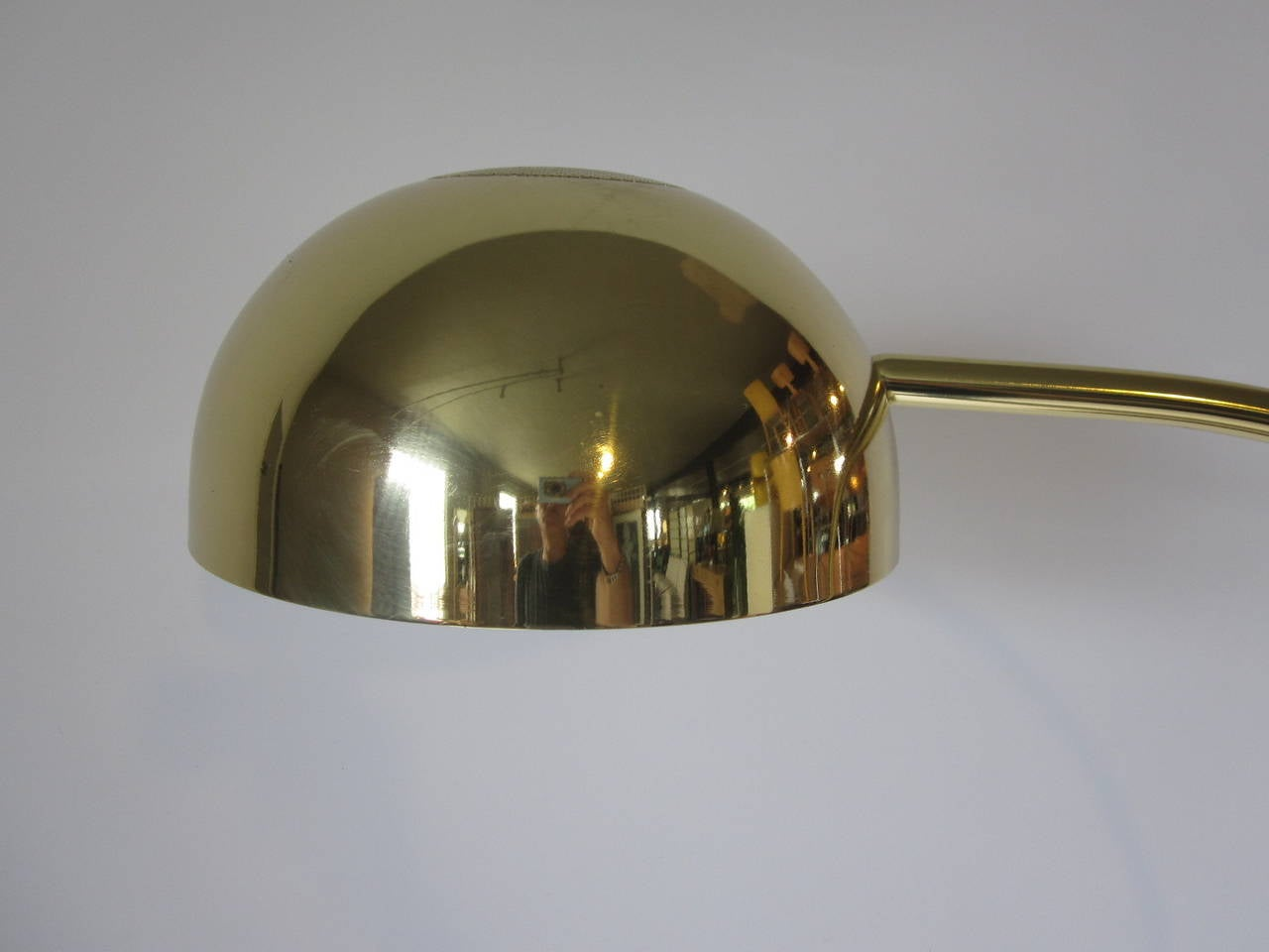 this 1970s brass arc floor lamp is no longer available. Black Bedroom Furniture Sets. Home Design Ideas