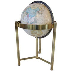 Globe with Brass Tripod Base