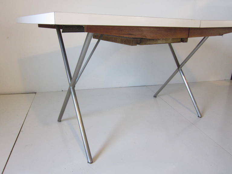 George Nelson X Leg Dining Table At 1stdibs