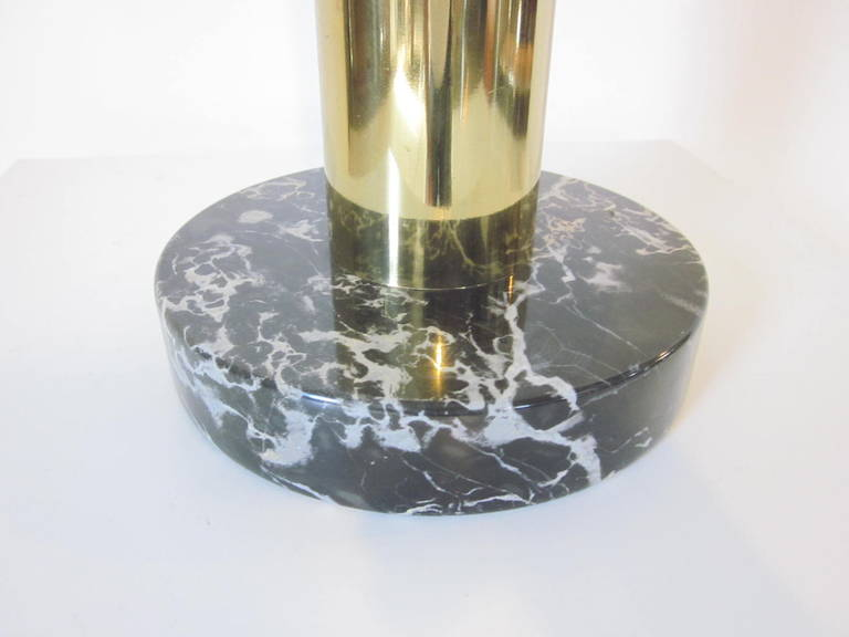 Nessen Brass and Marble Table Lamp In Good Condition For Sale In Cincinnati, OH