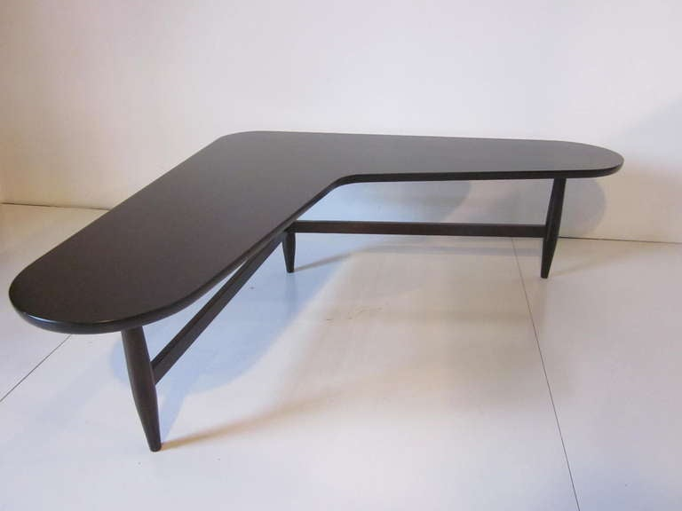 Mid Century Modern L Shaped Coffee Table For