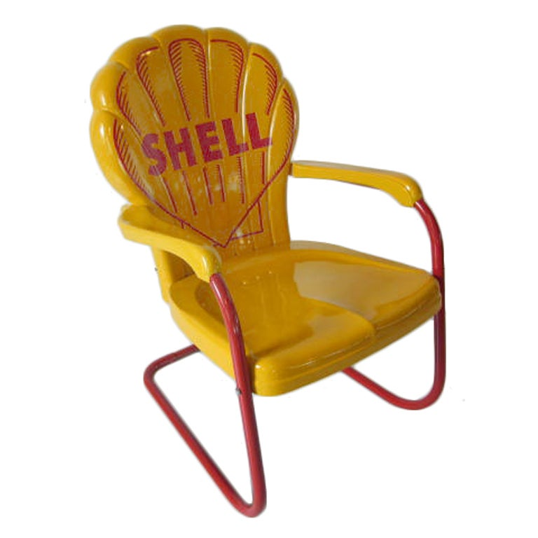 Shell Oil Chair At 1stdibs