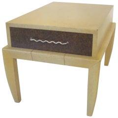 John Keal Wood and Cork Side / End Table / Brown Saltman