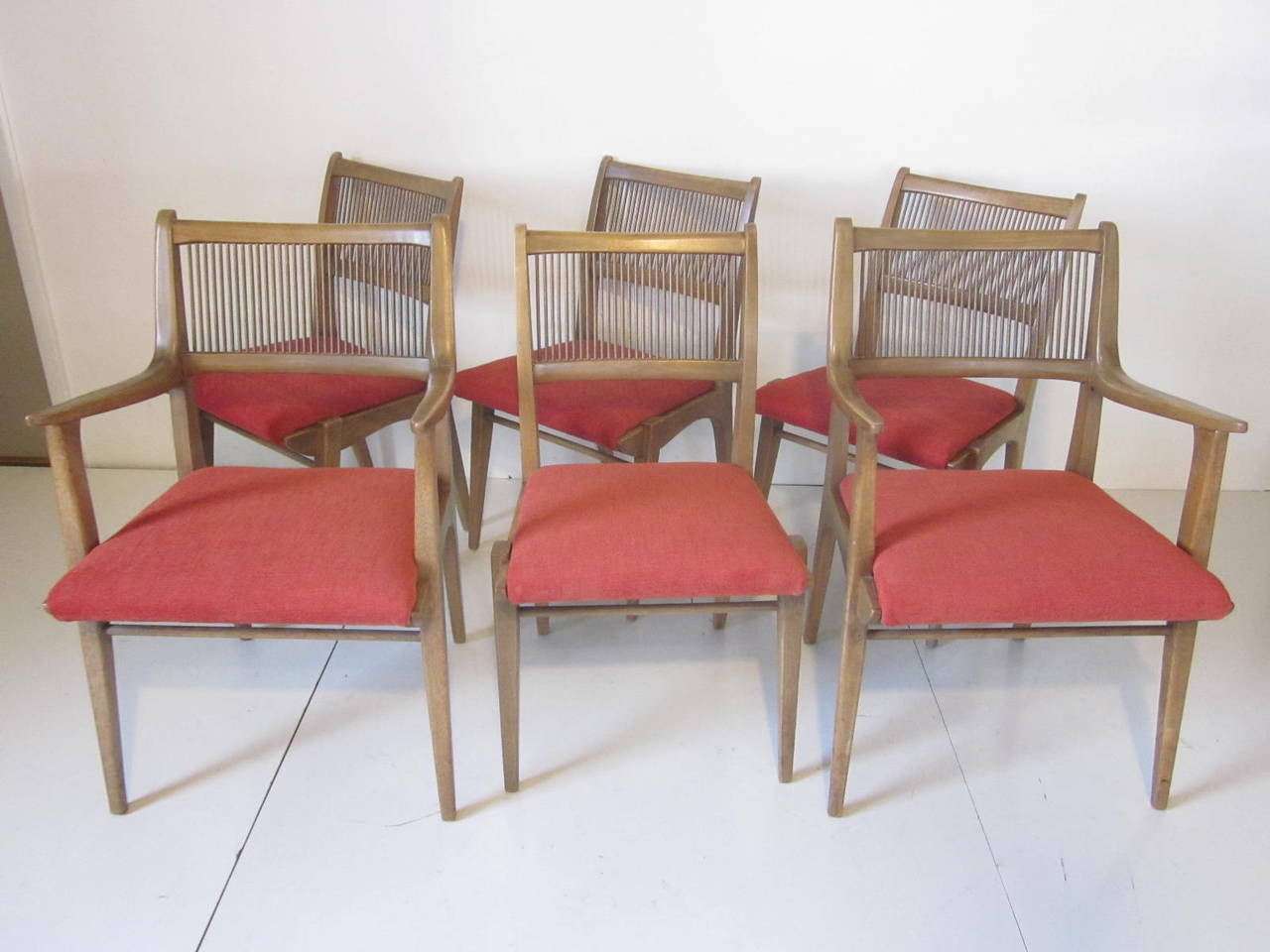 Superieur A Set Of Six Dining Chairs, Two Captains Chairs And Four Side Chairs With  Upholstered