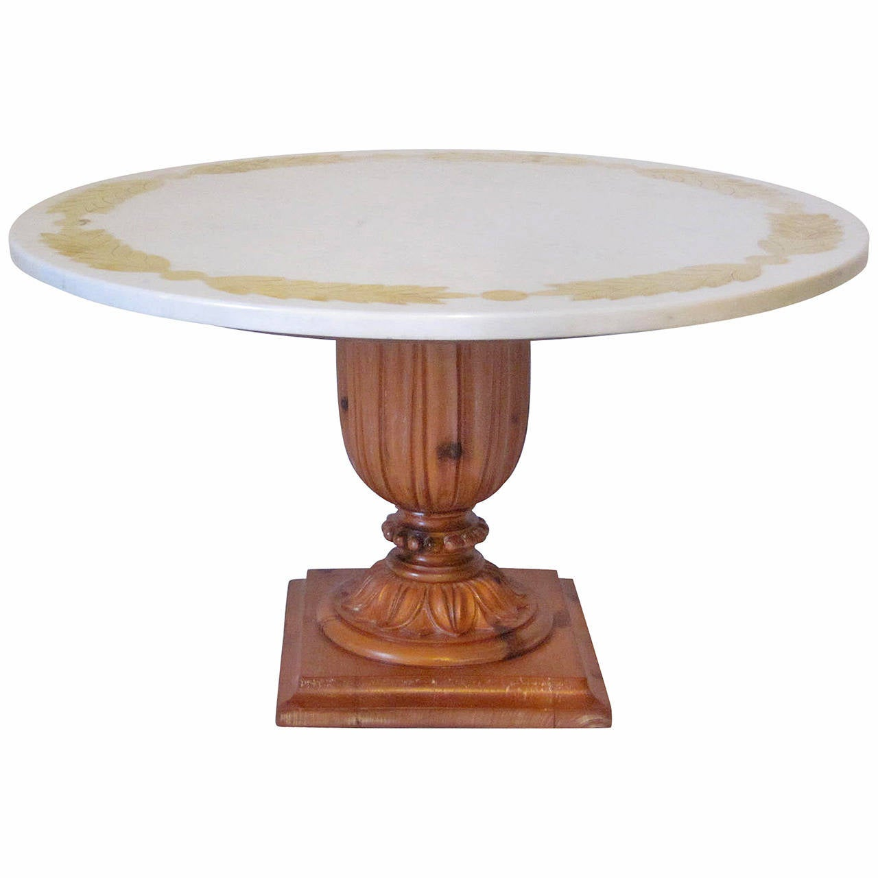 Marquetry Marble Coffee Table: Niccolini Brass Inlay Marble Coffee Table At 1stdibs