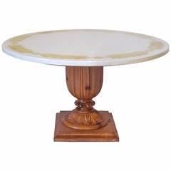 Niccolini Brass Inlay Marble Coffee Table