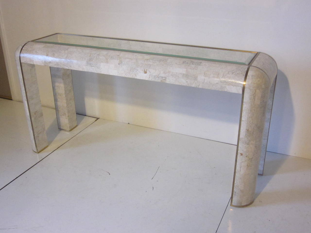 Maitland-Smith Tessellated Marble Console For Sale at 1stdibs