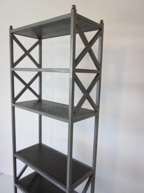 industrial etagere bookcase at 1stdibs. Black Bedroom Furniture Sets. Home Design Ideas