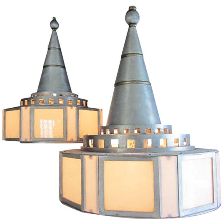 Industrial Art Deco Chandeliers At 1stdibs