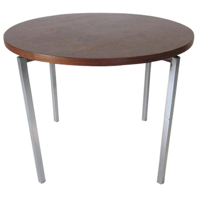 Florence Knoll Walnut / Steel Side / End Table for Knoll For Sale