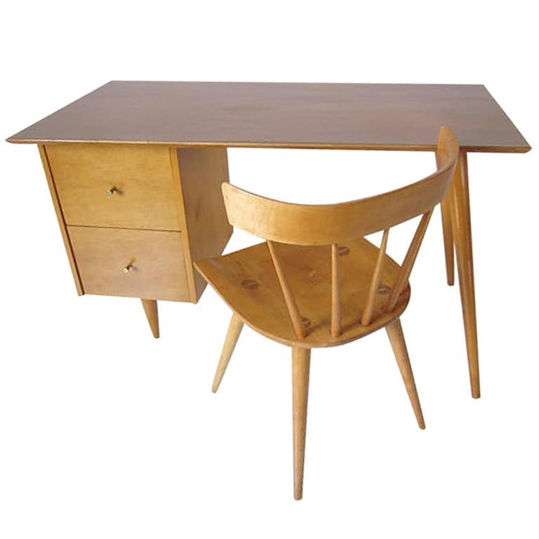 Paul McCobb Desk with Chair at 1stdibs