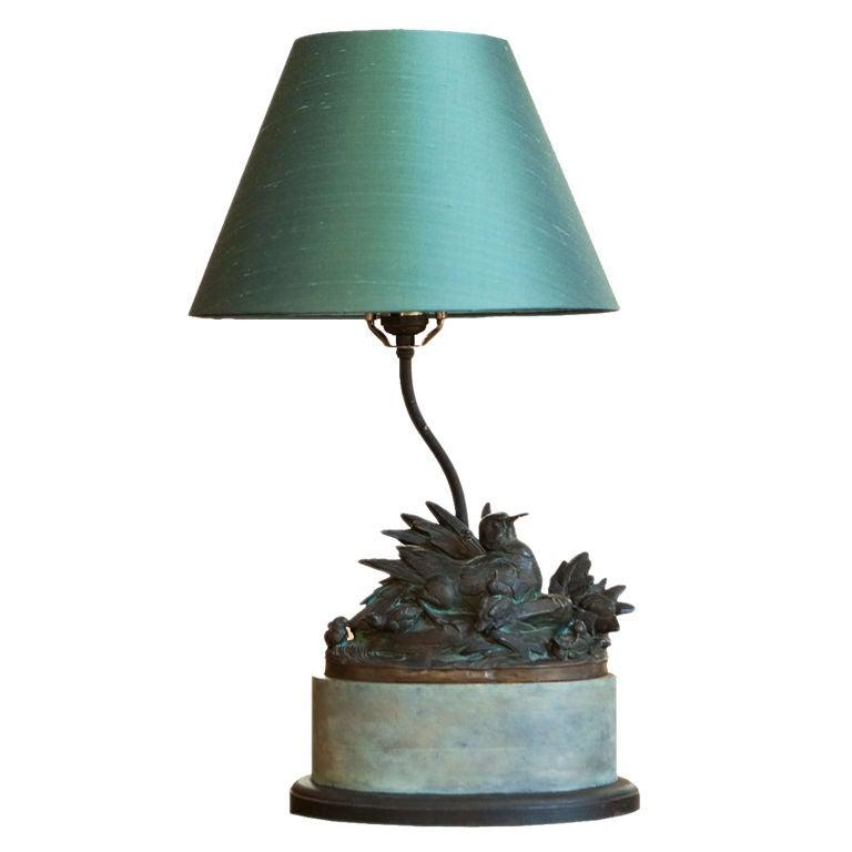 A Arson Bronze Bird Sculpture Lamp At 1stdibs