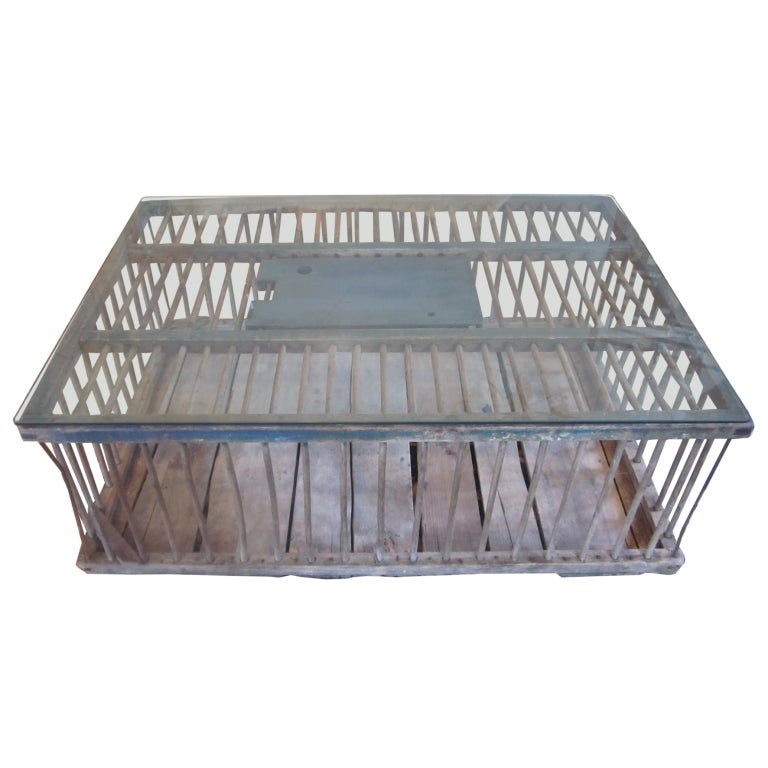 Antique Poultry Crate Coffee Table At 1stdibs