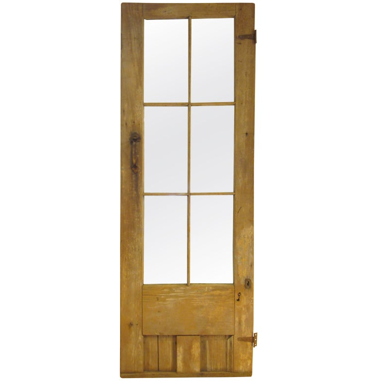 Antique Farmhouse Door With Mirror At 1stdibs