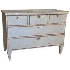 Late 18th Century Spanish Antique Commode in Painted Wood