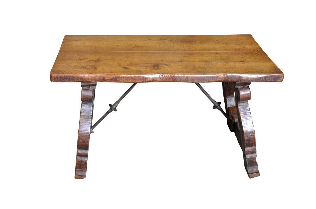Spanish Antique Late 19th Century Coffee Table Fd Ftp496 At 1stdibs