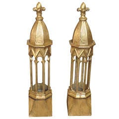 Pair of Early 19th Century Italian Altar Candle Niches / Candelabra