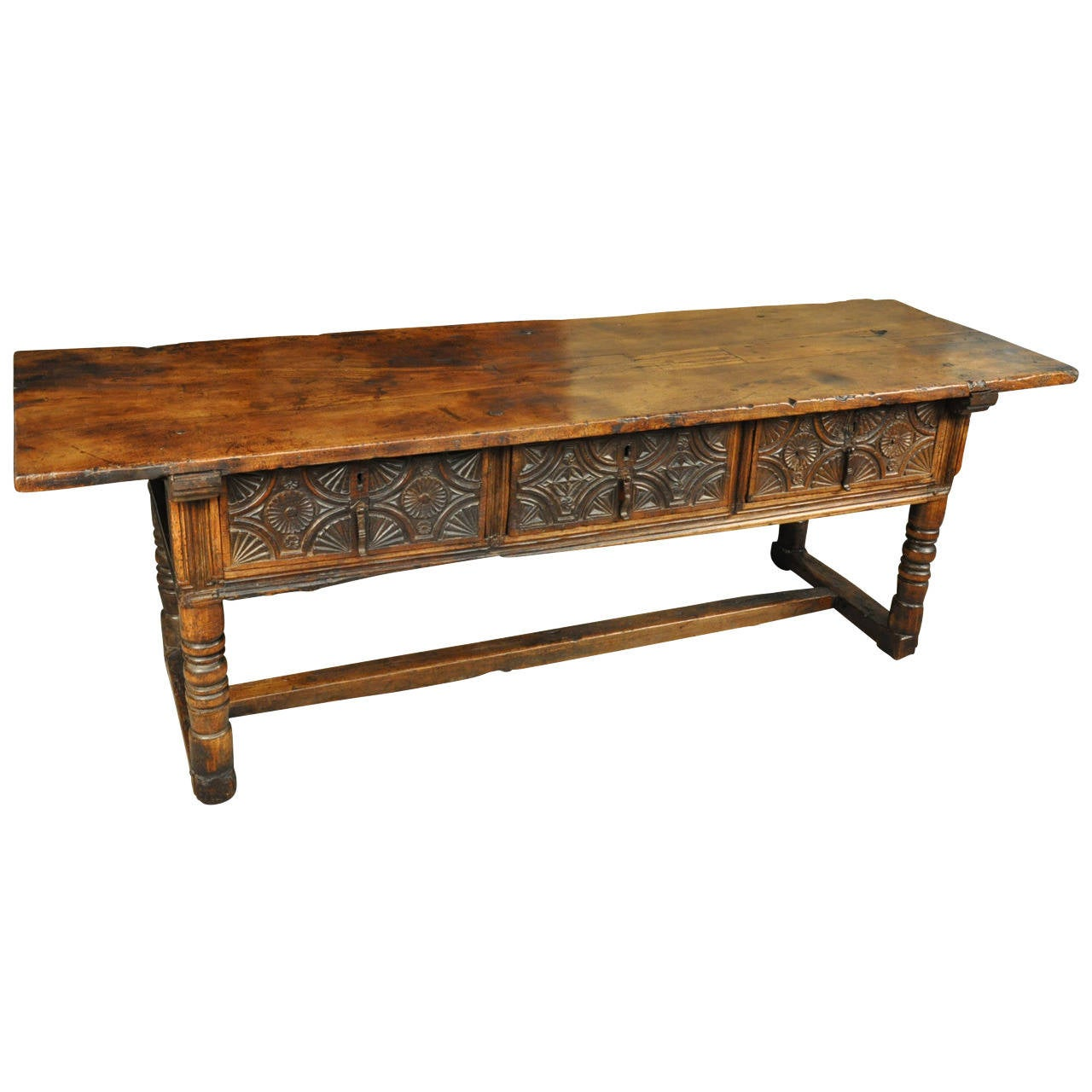 Spanish 17th century console table in chestnut at 1stdibs for Table in spanish