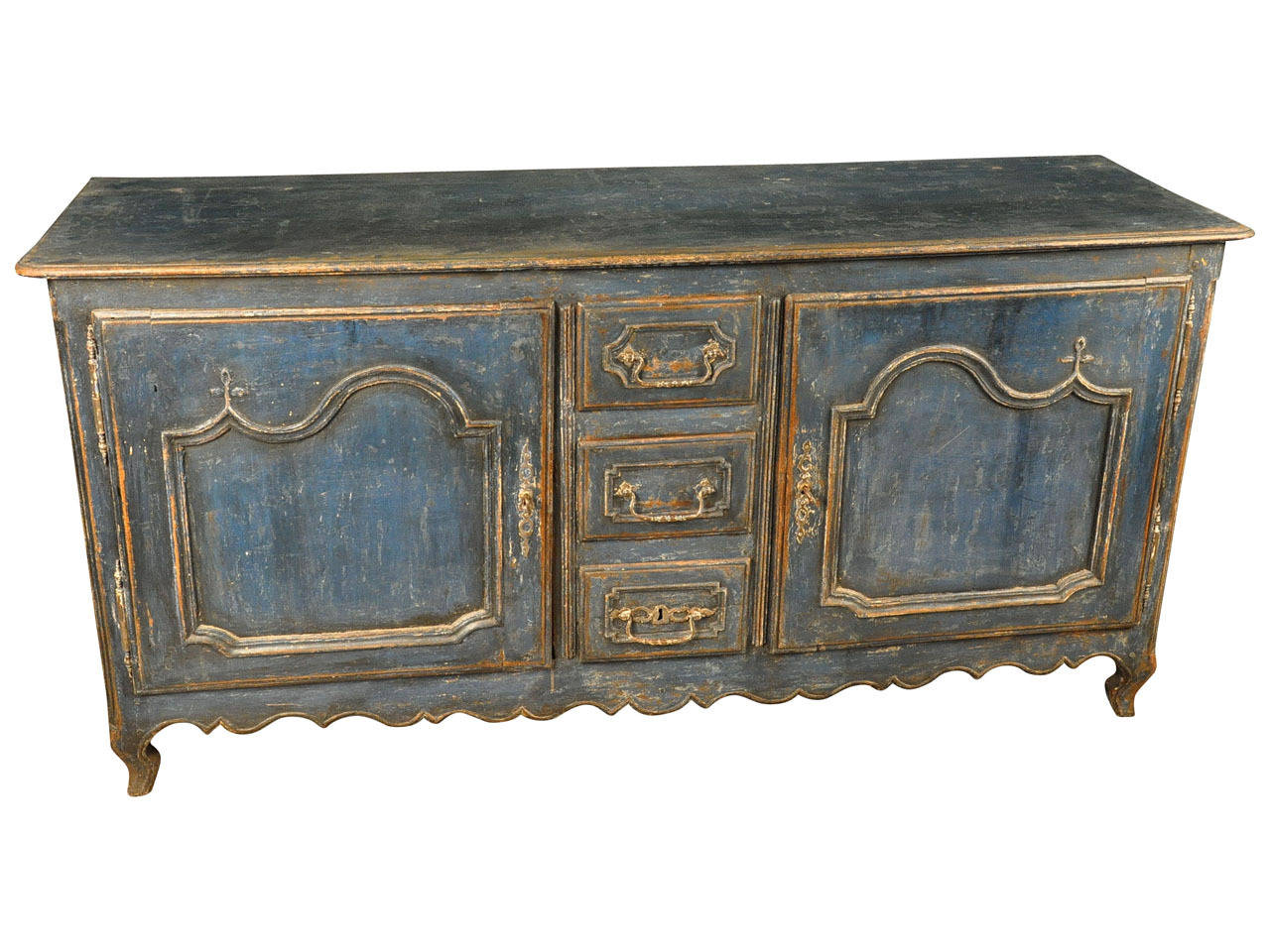 18th century french provencal painted enfilade buffet at for 18th century french cuisine