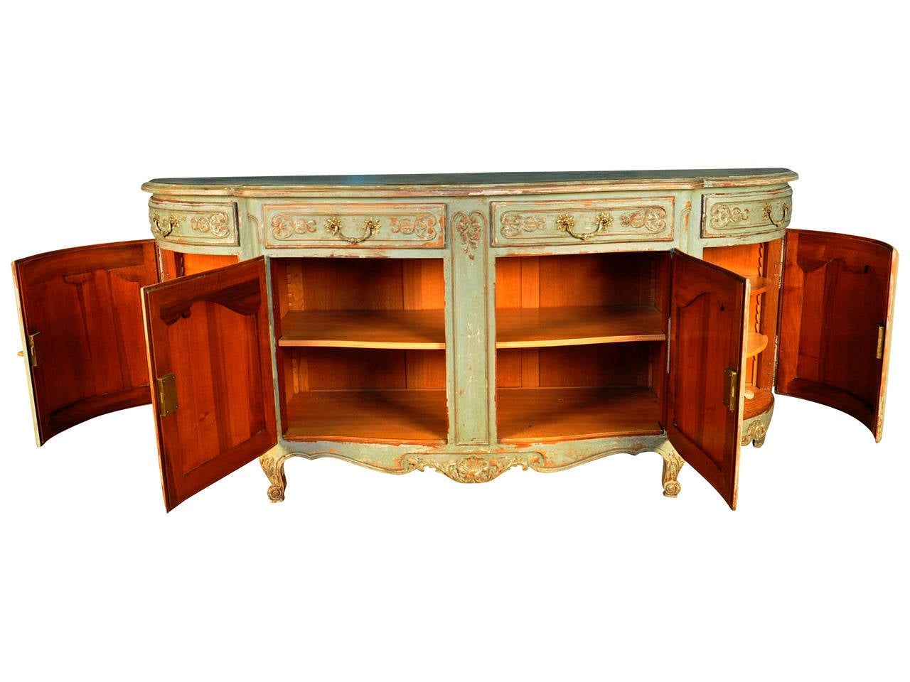 width of kitchen cabinets provencal painted enfilade buffet at 1stdibs 29283