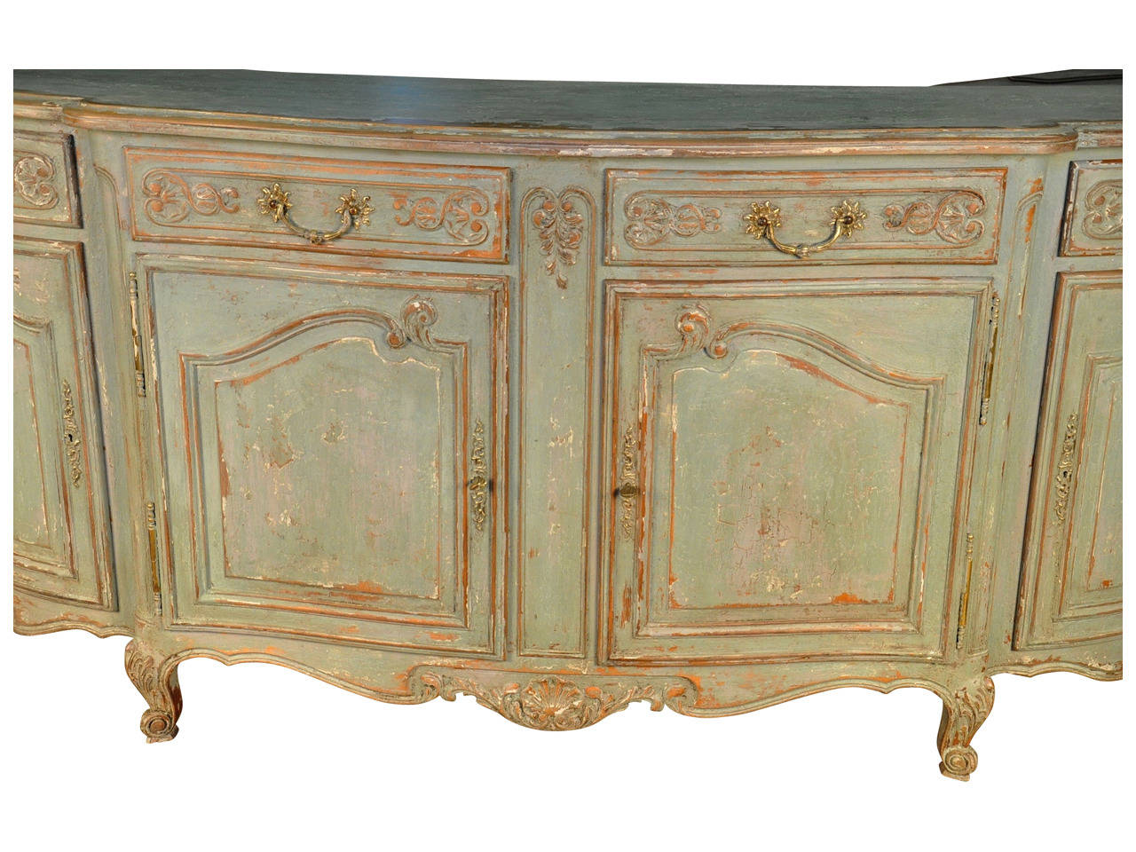 great french provencal painted enfilade buffet with buffet enfilade but. Black Bedroom Furniture Sets. Home Design Ideas