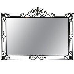 French Iron Mirror