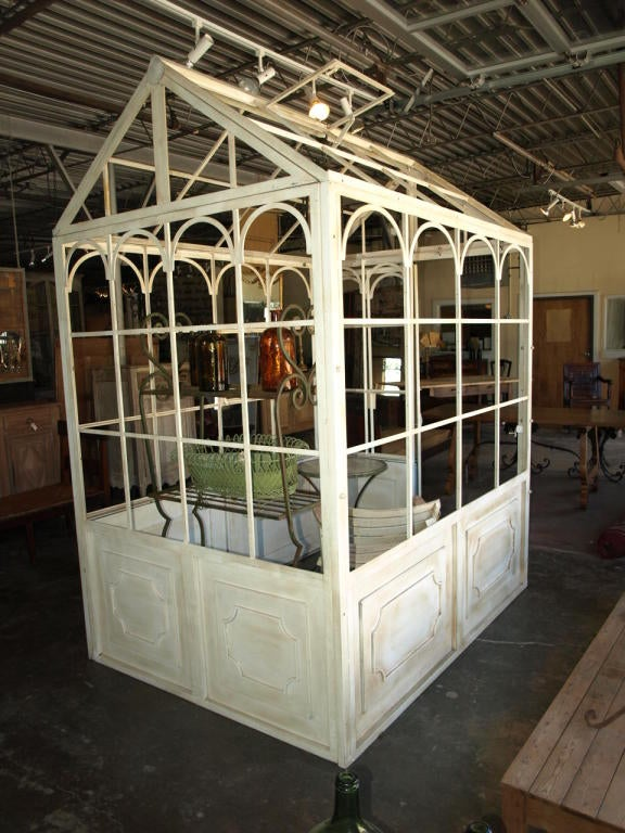 Antiqued White Iron Greenhouse At 1stdibs