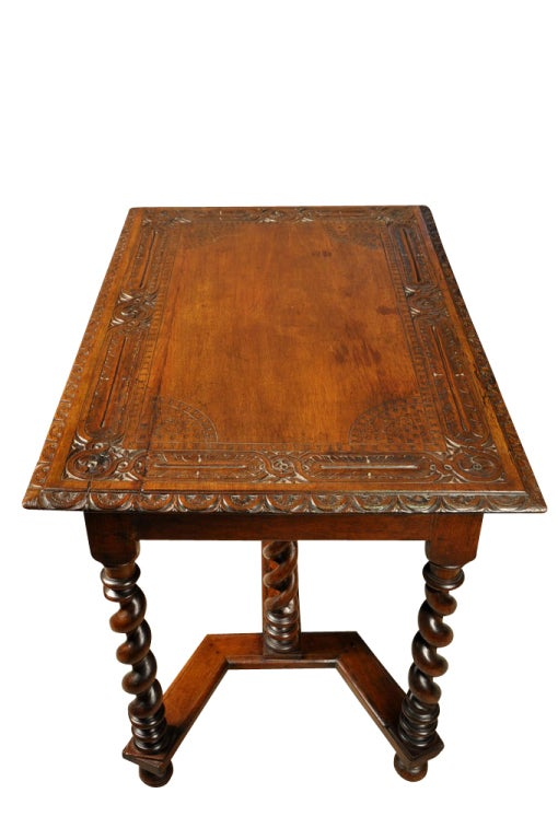 french mid 19th century louis xiii style central table desk at 1stdibs. Black Bedroom Furniture Sets. Home Design Ideas