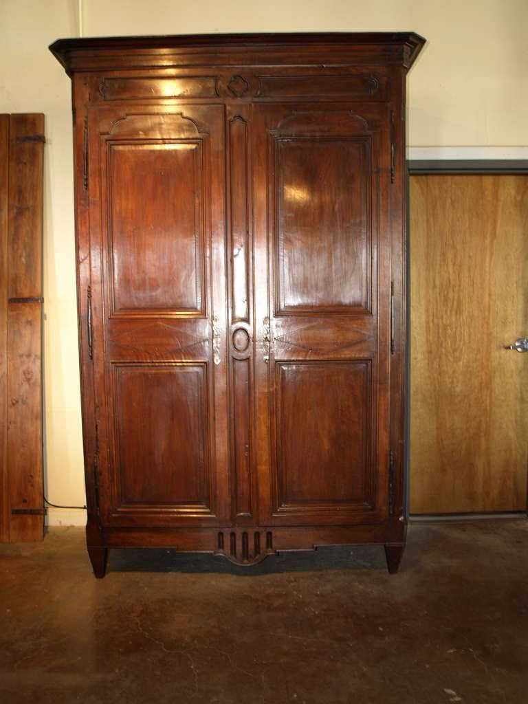 French antique louis xvi style armoire in walnut at 1stdibs - French style armoire wardrobe ...