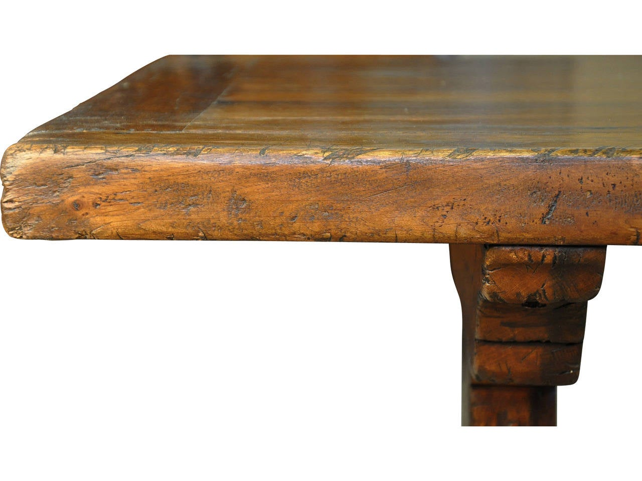 19th Century French Farm or Trestle Table in Walnut at 1stdibs : T29319l from www.1stdibs.com size 1280 x 960 jpeg 105kB