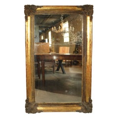French Louis XIV Style Mirror In Gilt Wood