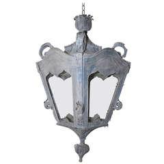 Late 19th Century Italian Zinc Lantern