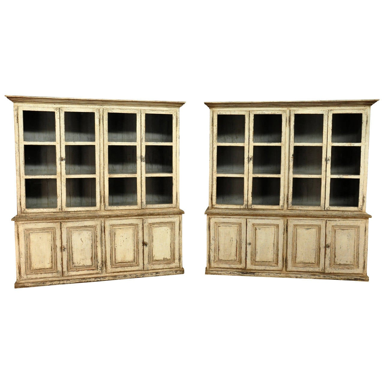 19th Century Bookcases In Solid Painted Wood From Portugal At 1stdibs. Full resolution  file, nominally Width 1280 Height 1280 pixels, file with #997F32.
