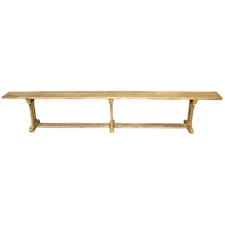 French Country Bench In Oak At 1stdibs