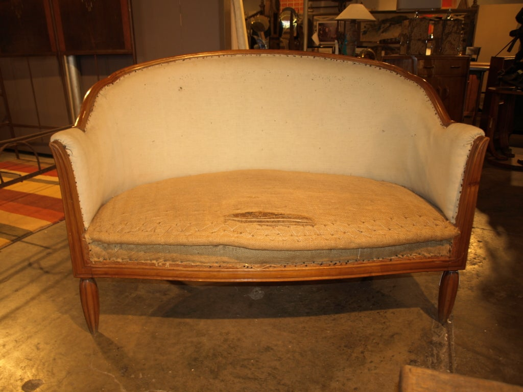 1920 S Style French Banquette In Walnut At 1stdibs