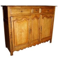 French Antique Louis XIV Style Oak Buffet