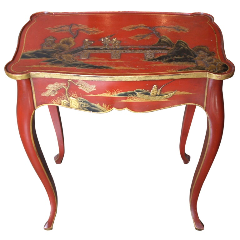 Louis Xv Style French Chinoiserie Side Table At 1stdibs