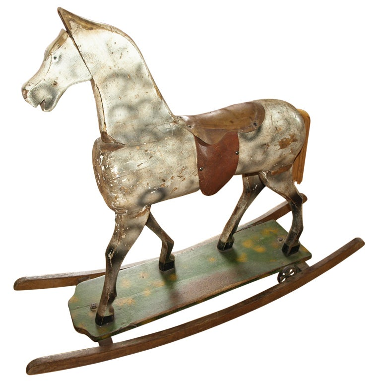 Vintage French Rocking Horse
