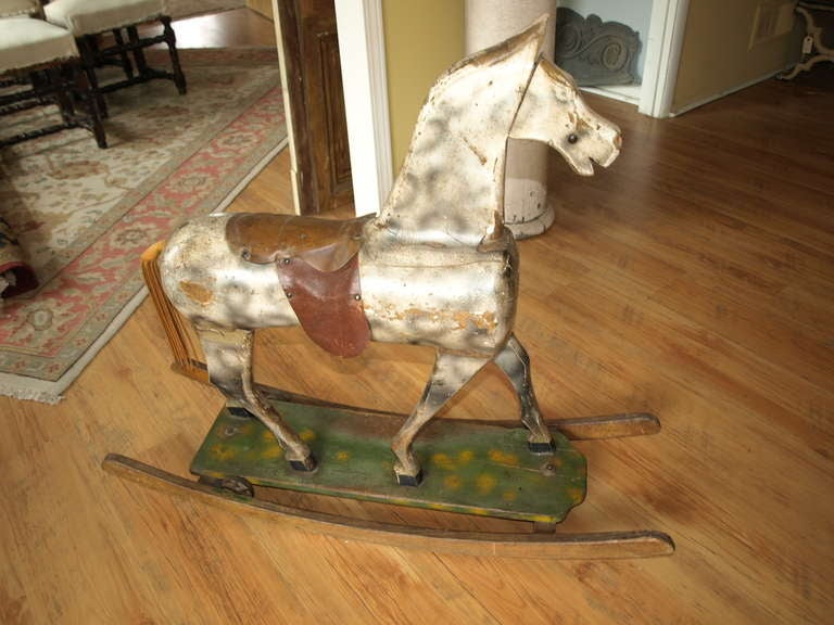 Vintage French Rocking Horse At 1stdibs