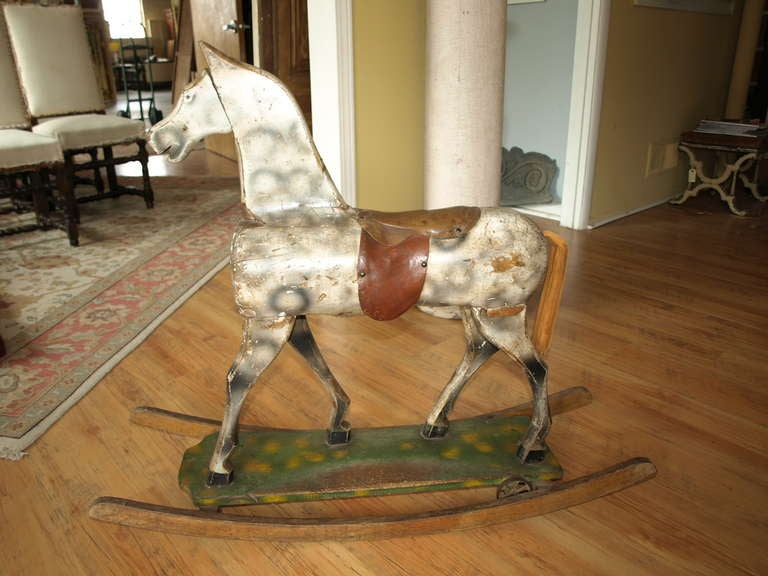 Vintage French Rocking Horse image 3