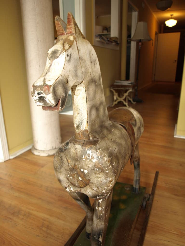 Vintage French Rocking Horse image 5